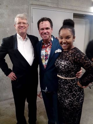With my first jazz piano teacher, Mr. Steve Million (l) and Jazz vocalist, Mr. Kurt Elling (c) following our performance at the 2014 Fifth Star Awards, Chicago