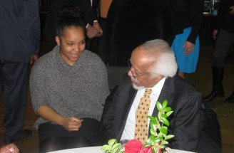 Meeting the great bebop pianist, Mr. Barry Harris, in Detroit, April, 2016 (Photo credit: Rebecca Hope)