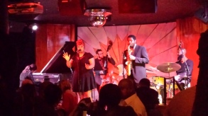 Performing with drummer, Clif Wallace's Quartet Feat. Meagan McNeal, Valentine's Day 2016 at Detroit's Cliff Bells