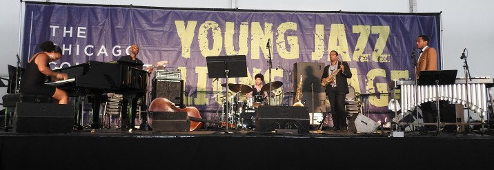 The Alexis Lombre Quintet performing on the Young Lions Stage of the 2016 Chicago Jazz Festival (Photo credit: Traci Lombre)