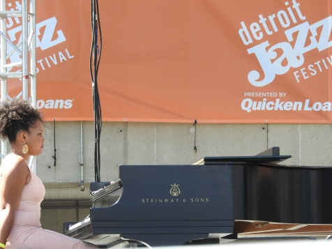 Performing on the Carhartt Amphitheater Stage at the 2016 Detroit Jazz Festival with the John Douglas Quartet. (Photo credit: Traci Lombre)