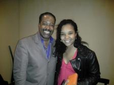 With Jazz Pianist, Eric Reed following his Jazz Showcase performance, April 2013
