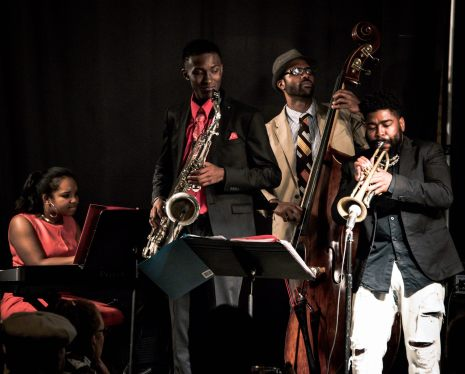 The Alexis Lombre Quintet with Corey Wilkes-trumpet, Junius Paul-Bass, Isaiah Collier-Sax. June 2015 (Photo credit: Dawan Sadrud-Din