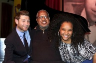With mentors and piano teachers, Mr. Benny Green (l) and Mr. Willie Pickens (c) in Chicago, Mar. 2014 (Photo credit: Stan Lee)
