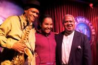 With mentors saxophonist, Mr. Bobby Watson and pianist, Mr. Willie Pickens (Photo credit: Stan Lee)