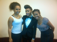 With singer, Janelle Monaé, and my sister, Lauren, May 2013 at the CSO