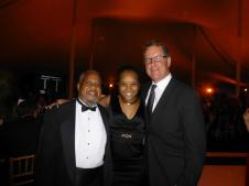 With Mentor, Mr. Willie Pickens (l) and Pianist and Ravinia Festival CEO, Welz Kauffman, Oct. 2013