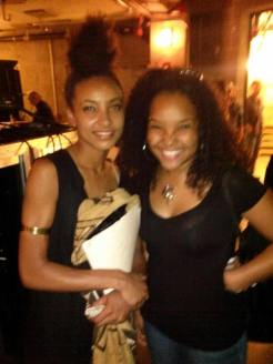 With Esperanza Spaulding, following her performance at the 2014 Chicago Jazz Festival